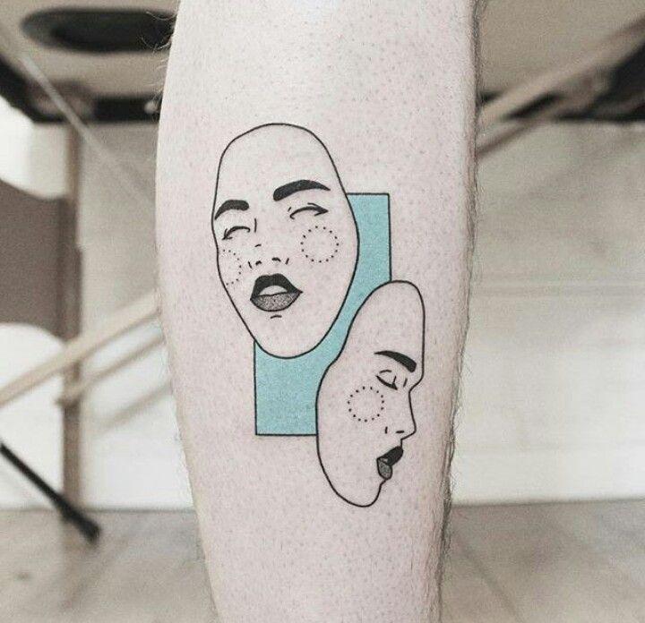 Pin by Sophia U on Outline   Mask tattoo, Cute tattoos ...