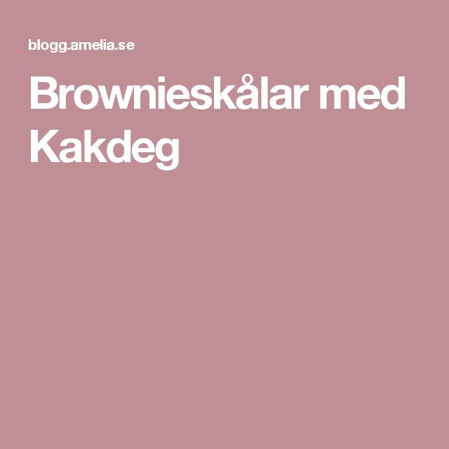 Brownieskålar med Kakdeg