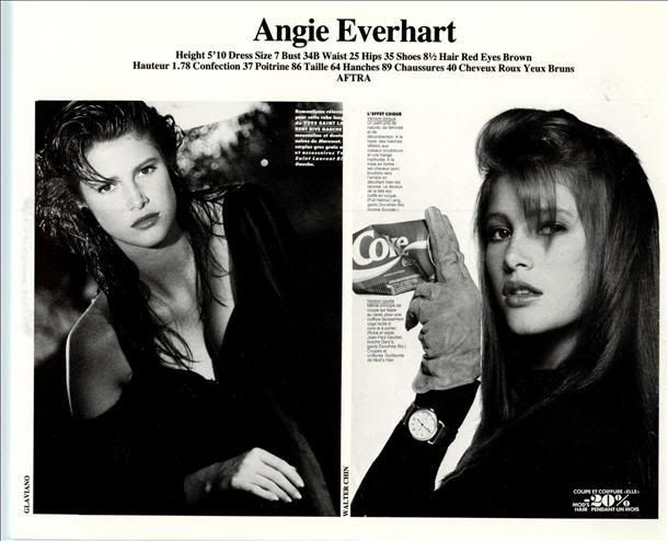 Angie Everhart | Elite NY 1990 Comp Card