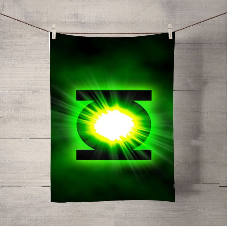 Green Lantern Power Ring Logo Bath Towel Beach Towels