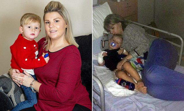 Toddler is saved from sepsis... by mother who learned to spot signs