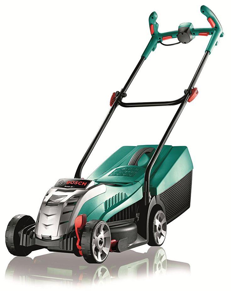 Bosch Rotak 32 LI Ergoflex Cordless Lawn Mower with 36 V Lithium-Ion Battery, Cutting Width 32 cm