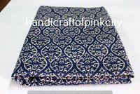 3 Yards length 108x44'' Hand Block Print dabu Fabric. Iket print