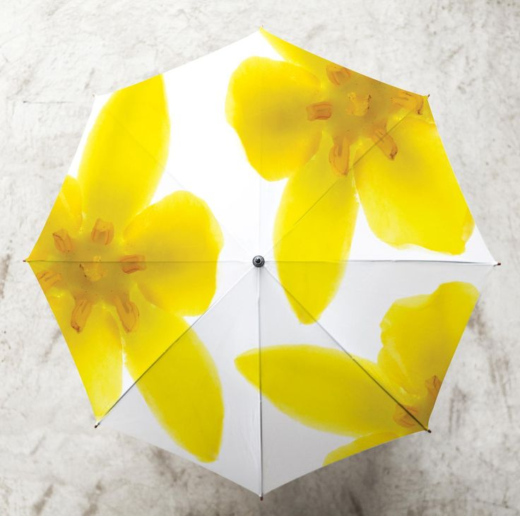 Yellow flower umbrella by Clinton Friedman from Purely African