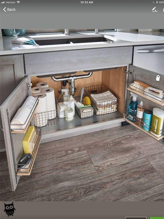 Kitchen Decor Ideas In 2020 Under Kitchen Sinks Under Kitchen Sink Storage Kitchen Sink Storage