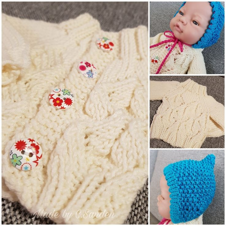 Knitted cardigan and bonnet from Paelas  August 2017