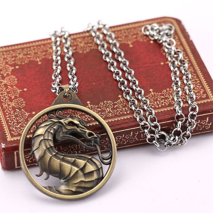 Mortal Kombat Dragon Symbol Keychain Necklace Pame Periphery Jane Empire  Fighting Game Logo Necklace Film Animation