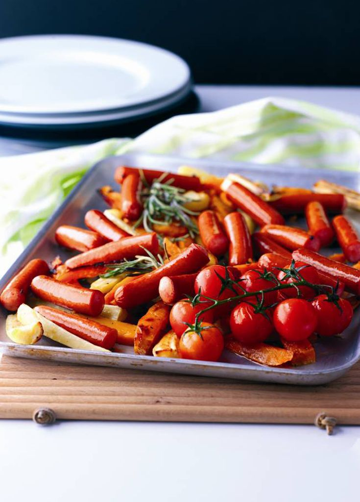 Frankfurters with Sweet Potato Chips - Frankfurters and chips with a twist!