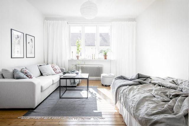 Blog wnętrzarski - design, nowoczesne projekty wnętrz: Jednopokojowe mieszkanie - aranżacja