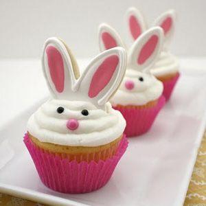 Pour une fois, une idée cuisine avec un petit lapin cupcake idéal pour fêter Pâques…