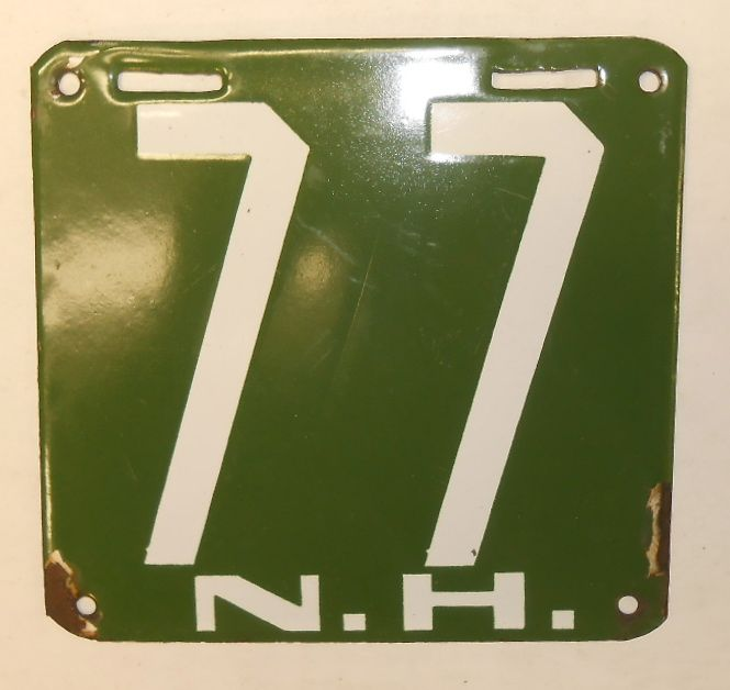 1905 New Hampshire #77 license plate - Realized Price: $16,100.00
