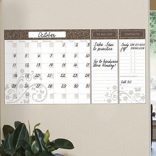 World Calendar Organization : Dry erase calendar organizer vinyl wall decal world