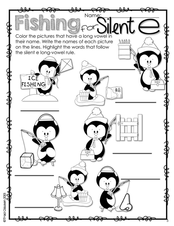 Words with silent e coloring pages ~ Long vowel review and practice Silent e and vowel pairs ...