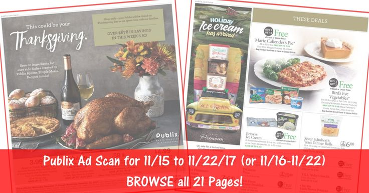 READY to BROWSE the actual upcoming Publix Weekly Ad Scan starting? Here is the Publix Weekly Ad Scan for 11/15/17 - 11/22/17 (11/16-11/22 for Some)! BROWSE all 21 Pages HERE ►  http://www.thecouponingcouple.com/publix-weekly-ad-scan-11-15-17/  #earlyad #PublixAd #PublixDeals #PublixAdPreview #PublixAdScan  Visit us at http://www.thecouponingcouple.com for more great posts!