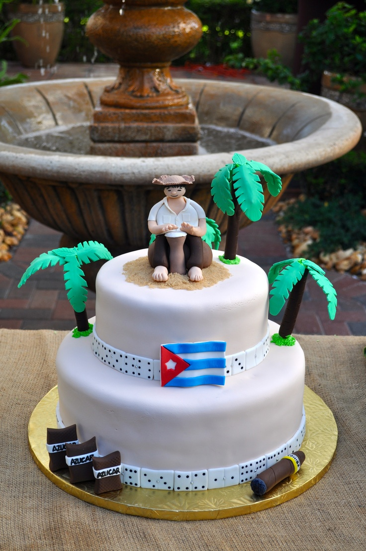 Sweet Treat Creations, Cuban Themed Birthday Cake | Cakes