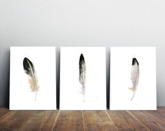 Feather Art Feather watercolor painting Zen Drawing by ZenInks