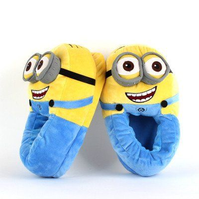 Despicable Me Minions Slippers Plush Stuffed Funny Slippers Jorge Animal Warm Winter Home Slippers Women Men Kid Zapatilla Casa