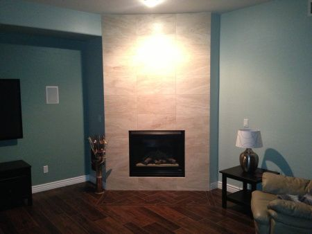 Gallery For gt Glass Tile Fireplace Floor To Ceiling