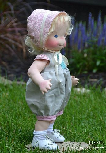 Liesel-Vintage inspired handmade, natural fiber doll by Mon Petit Frère. by MonPetitFrere, via Flickr
