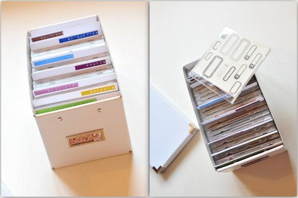 Boite de rangements pour tampons clears rangement pinterest album rang - Boite de rangement avec intercalaires ...