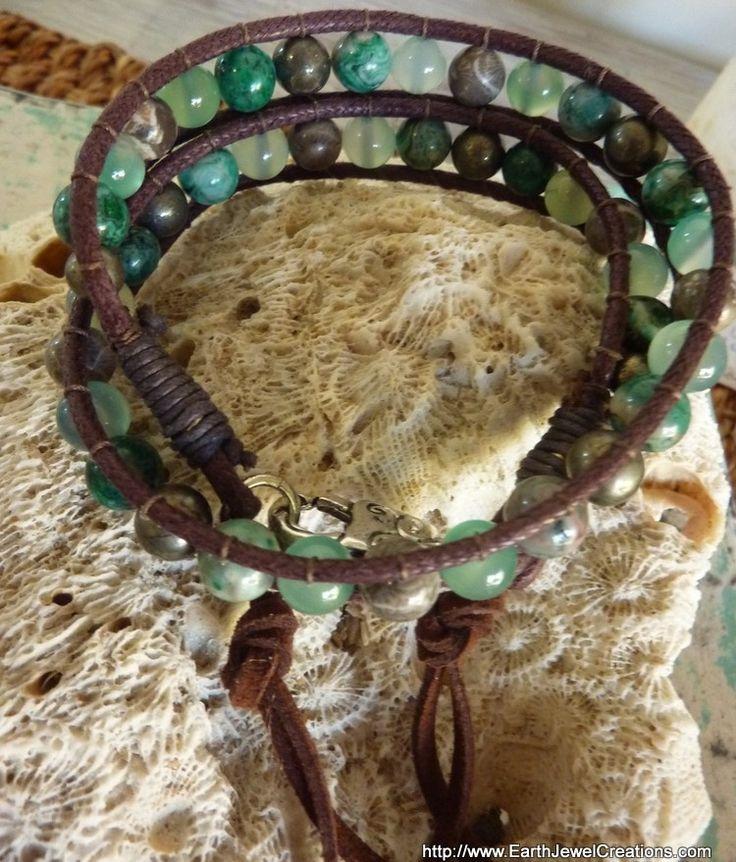 Balance & Acceptance Tribal Wristwrap - handmade crystal energy gemstone jewellery Earth Jewel Creations Australia