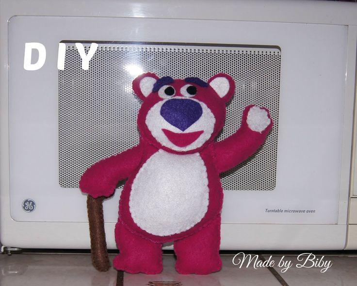 DIY-  TOY STORY 3 -OSO LOTSO en fieltro