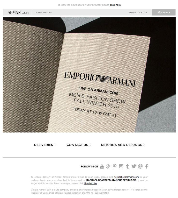 Emporio Armani- watch the men's Fall Winter 2015 fashion show live