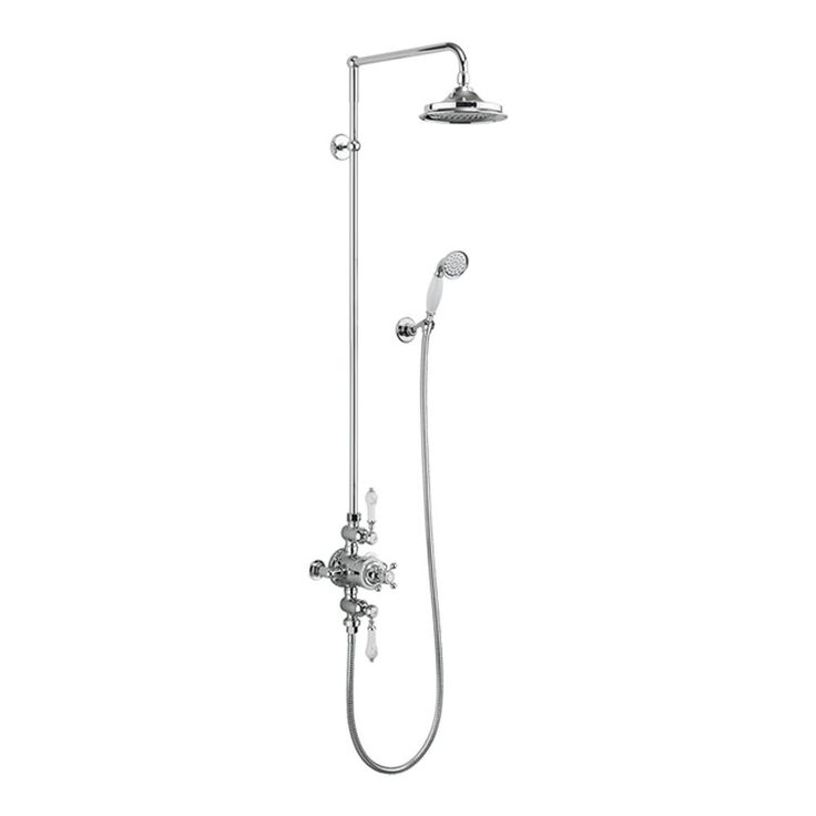 Image for Burlington Avon Exposed Thermostatic Shower Dual Function With On & Off Controls In Chrome
