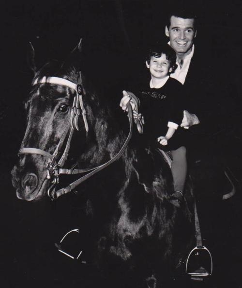 """GIDDDY UP!  James Garner and Daughter Gigi Garner riding around the stage on  """"THE THRILL OF IT ALL"""""""