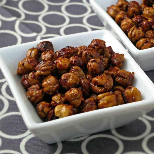 Honey Roasted Chickpeas with Sea Salt   alidaskitchen.com