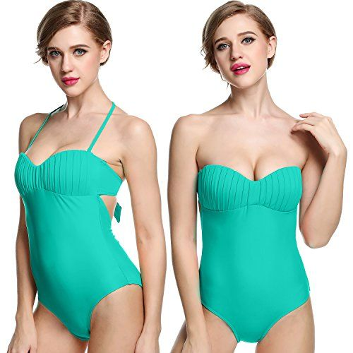 Ekouaer 50s Women Retro One Piece Swimsuit Pin Up Monokinis Swimwear Green,small(Tag 10)   Special Offer: $19.99      244 Reviews Ekouaer One Piece Bandeau Monokini Swimsuits for Women 100% Brand New. Brand: Ekouaer Material: 82% Polyamide, 18% Elastane 6 Colors: Sky Blue, Red, Orange,...