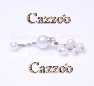NP962 Navlepiercinger med vedhæng navlepiercing med perlemor skær flot til din navle fra cazzoo piercing
