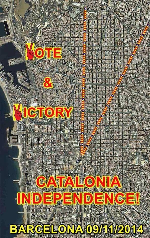 Via Catalana 11 de Setembre 2014 - Barcelona