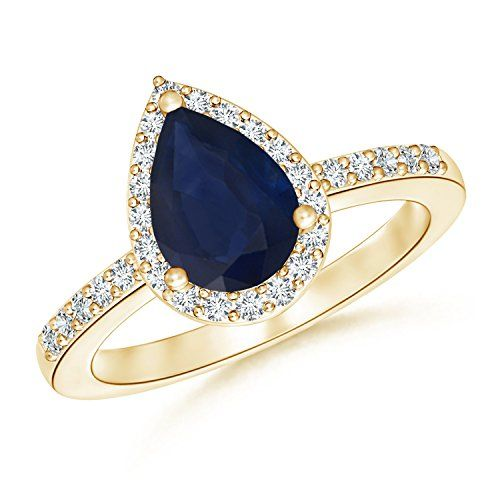 http://rubies.work/0390-sapphire-ring/ Pear Shaped Sapphire Engagement Ring with Diamond Halo
