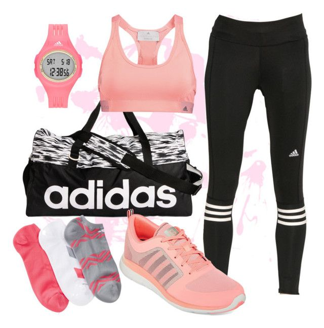 """On-the-run: Adidas"" by dcharissenicole on Polyvore featuring adidas"
