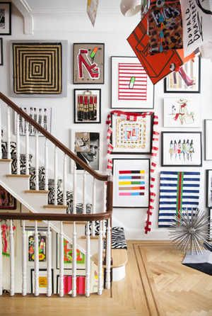 Donald Robertson | domino.com. Gallery wall