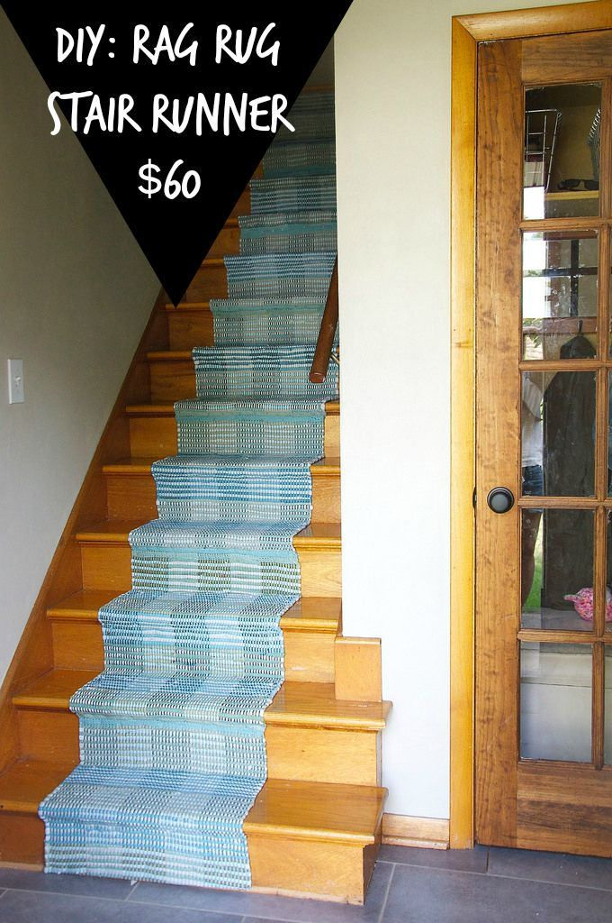 Diy Stair Runner 60 Using Rag Rugs So Simple