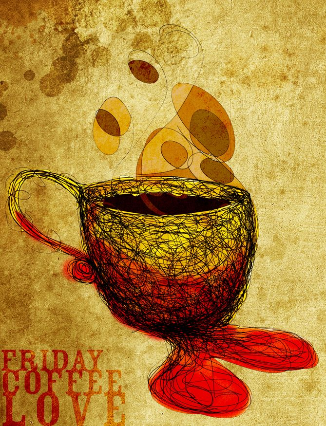 Friday • Coffee • Love. The cure for the fuzzy wuzzies! What my #Coffee says to me September 14th. Cheers!: Earth Coff, Artists Beautiful, Green Earth, Memorial Art