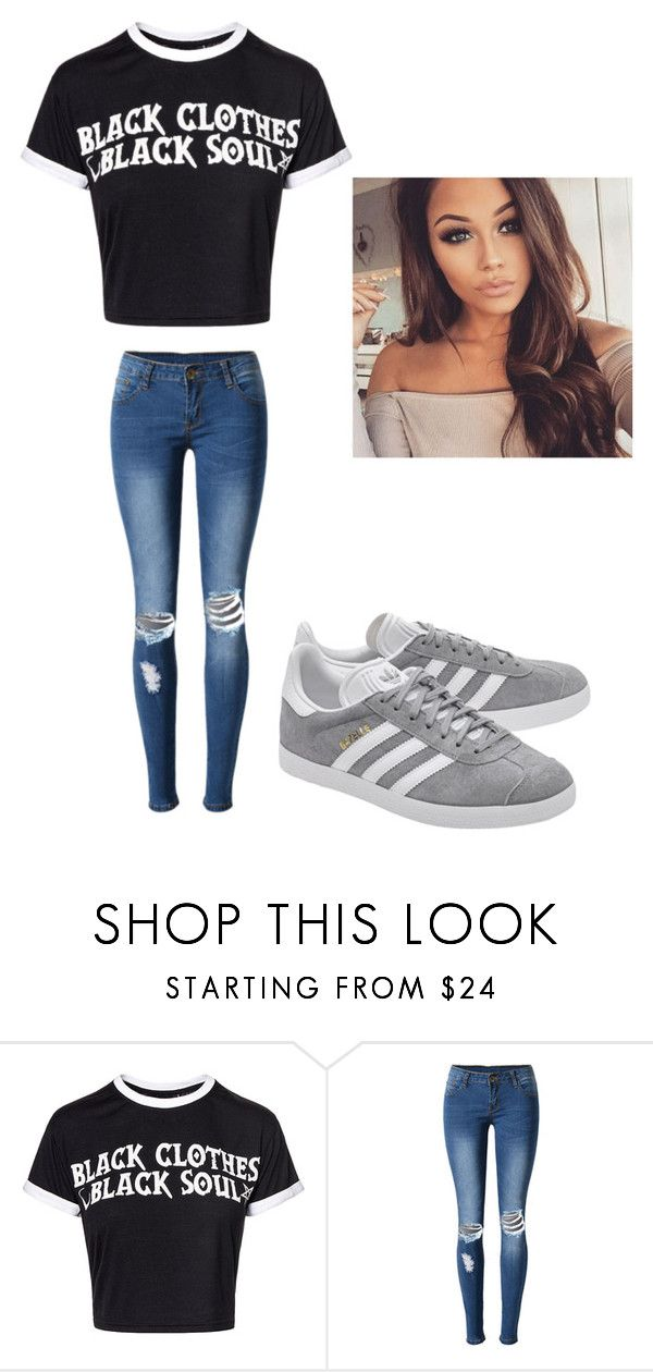 """Untitled #48"" by moriartylauren on Polyvore featuring beauty, WithChic and adidas Originals"