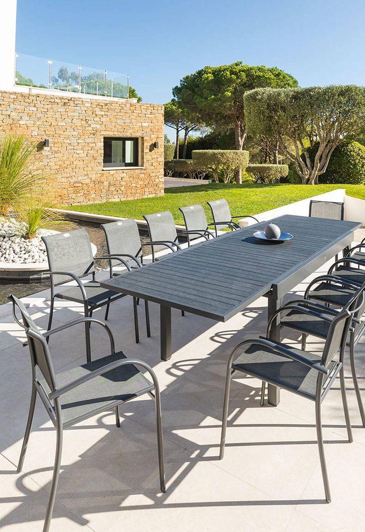 Table Bilbao 2m + 6 Fauteuils Antalya | Salon De Jardin Table Bilbao ...