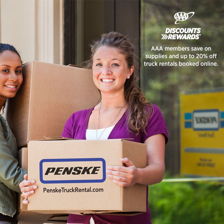 You will also need to swipe your AAA membership card at pickup. FREE unlimited mileage on all one-way truck rentals; 12% discount off moving accessories and supplies purchased with or separate from a truck rental; Penske trucks are also available for rent at nearly Home Depot locations in the U.S. and are continuing to expand.