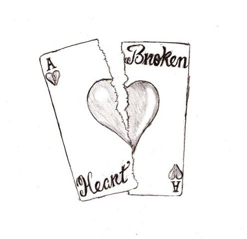 Sad Broken Heart Drawing | sad broken heart drawings