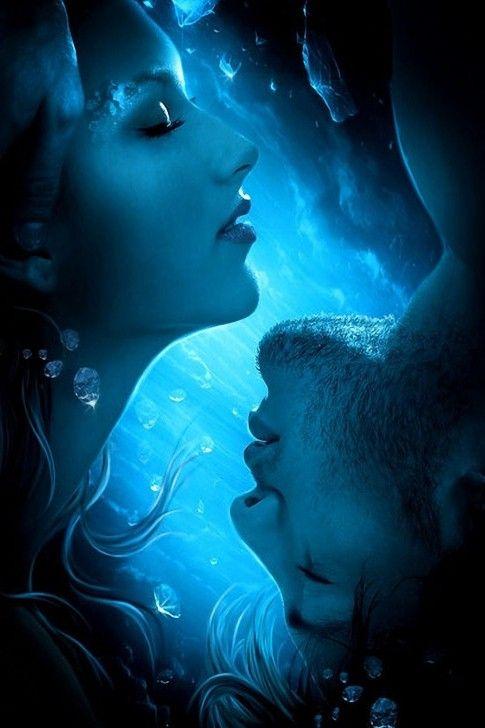 Blue Love by Elena Dudina. #art #illustration