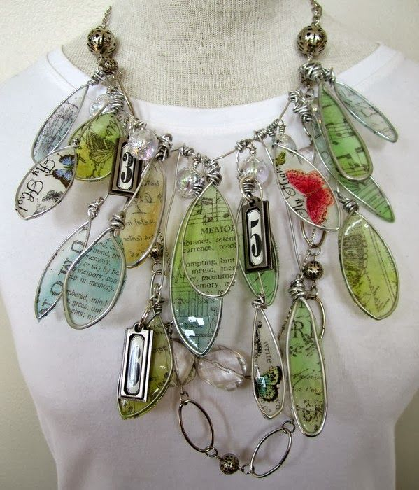 A Gorgeous  Tissue Paper Pendant created by Andrea for the Simon Says Stamp Monday Challenge (Tissue).