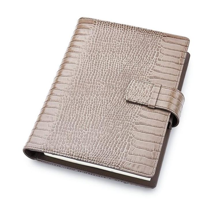 Leather A5 Padfolio in Chanterelle with note pad