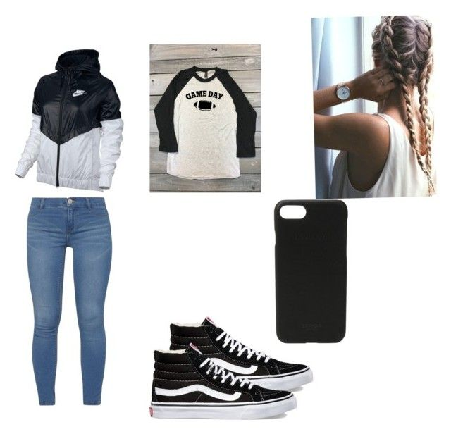 """""""Football game"""" by izzyvb on Polyvore featuring NIKE, Dorothy Perkins, Vans and Shinola"""