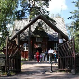 case tradizionali al museo aria aperta in Finladia vicino capitale Helsinki