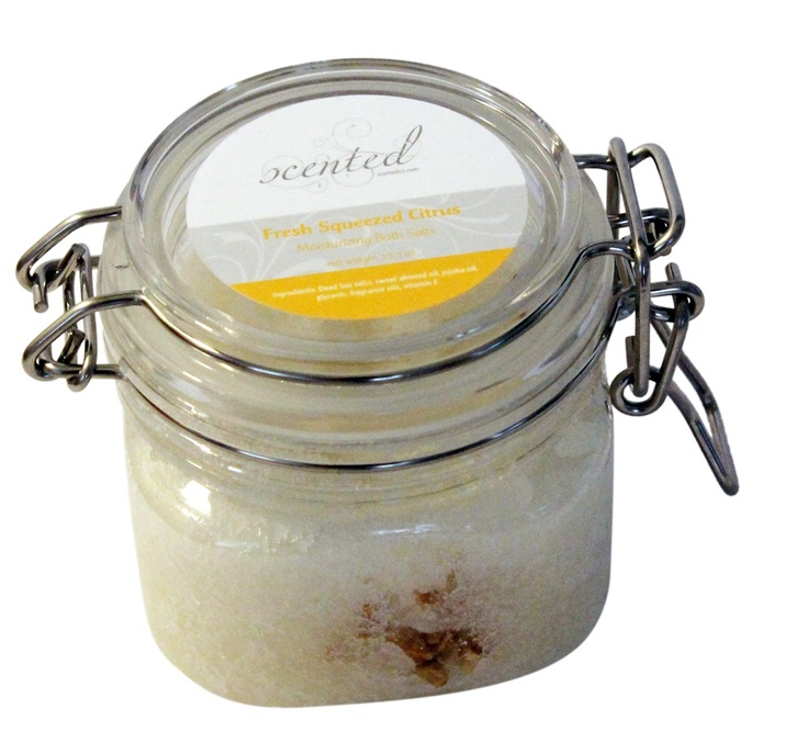 Freshly Squeezed Citrus Bath Salts    A tropical blend of fresh squeezed oranges, lemons, limes, tangerine, pink grapefruit quenches your senses.