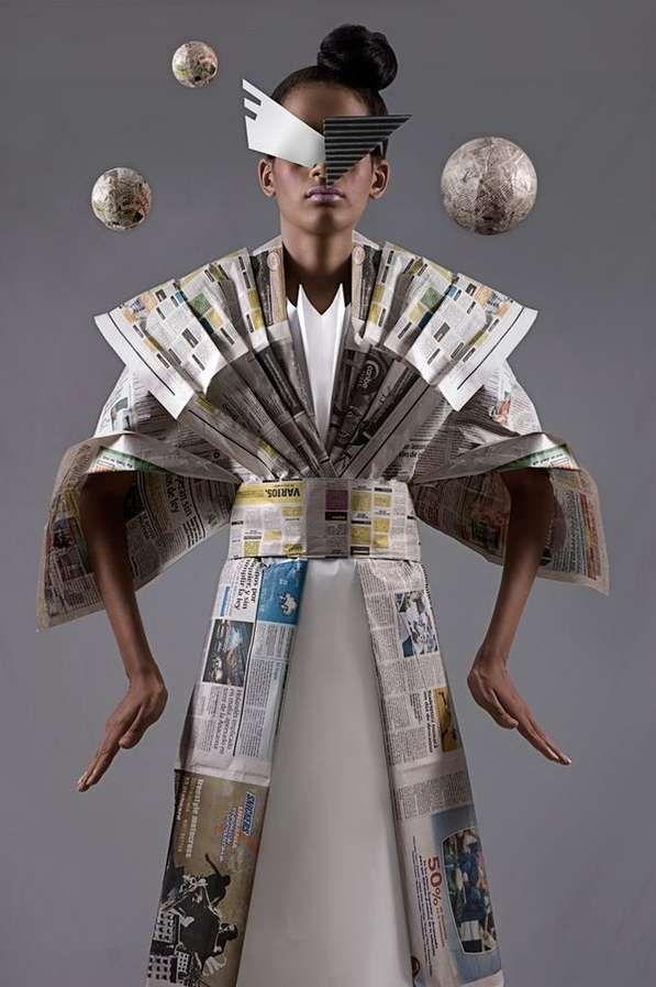 Newspaper Dress  http://www.trendhunter.com/trends/manuel-minino-paper-dolls#