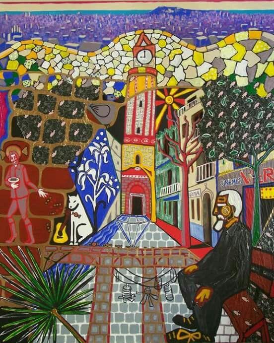 District Gràcia, Barcelona Art Serie, 160x130cm, artist : Karlijn Surminski